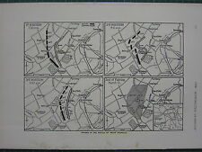 1915 WWI WW1 PRINT ~ PHAES IN THE BATTLE OF NEUVE CHAPELLE MAP POSITIONS