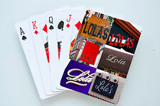 Personalized Playing Cards featuring Lola in photos of actual signs