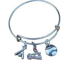 St. Louis Cardinals Bangle, Cardinals Jewelry, Cardinals Gift, Baseball Bracelet