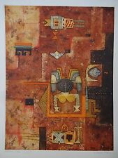 DIANA HANSEN TIASCALA NATIVE AMERICAN ABSTRACT 1979 77/200 AQUATINT ETCHING