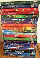 Lot of 20 Disney Movie DVD's Classics Lion King-Cinderella-JungleBook-101 - VG+
