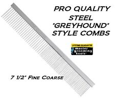 Master Grooming Tools Greyhound Style Steel FINE-COARSE COMB Pet Dog Cat Hair