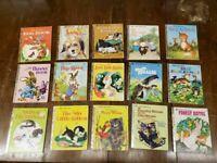 Lot of 15 Vintage Animal Golden Books 1980s & older