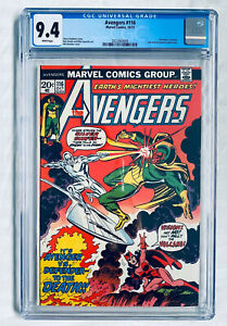 AVENGERS #116 (1973) CGC 9.4 - WHITE Pages - Defenders X-OVER - Silver Surfer NM