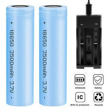 2 Pcs 18650 3500mAh 3.7V Li-ion Rechargeable Battery For Flashlight / Charger