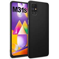 Schutz Hülle für Samsung Galaxy M31s Case Silikon Handy Hülle Cover Matt Schwarz