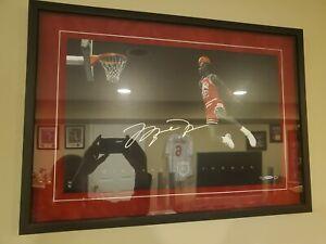 Michael Jordan UDA Signed Autographed 16x20 1988 Gatorade Slam Dunk HOF LE /123