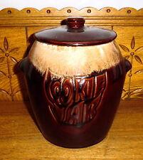 McCoy Pottery Brown Drip Cookie Jar 7024