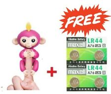 WOWWEE FINGERLINGS INTERACTIVE PINK MONKEY 100% AUTHENTIC + BONUS MAXELL LR44