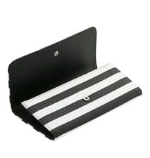 Kut From the Kloth Slim Striped Wallet Black and White Vegan Leather Wallet,NEW