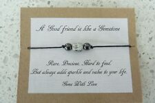 Gems With Love Jewellery Friendship Bracelet Hematite Gift Bag Gemstone Friend