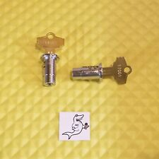 "NORTHWESTERN, EAGLE, OAK GUMBALL MACHINE #17001 (2) LOCKS & KEYS 1/4"" THREADED"