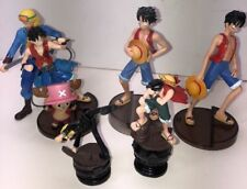 """5.5"""" Bandai One Piece Anime Monkey D. Luffy 7 Figurines With Stand Adorable."""