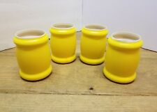 Retro mid century Yellow Tuffoams Can Koozie Cooler Beer Soda Camp set of 4