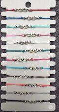 12x Joblot Colours Friendship Infinity Bracelets Boho Summer Jewellery Wholesale