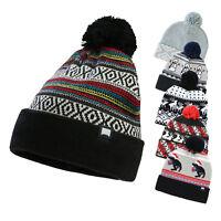 Men Women  Winter Warm up Pom Pom Knitted Beanie Cuff Hat Cap One Size fits All
