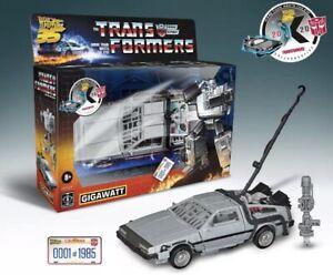 ✅Transformers Back to the Future Delorean Gigawatt Walmart Exclusive #/1985