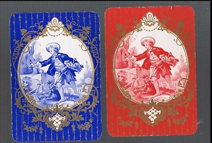 Swap Playing Cards 2 WIDE VINT ENG YOUNG REGENCY GENT AWESOME GOLD  DETAIL 92EW
