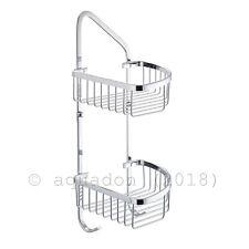 Corner Wire Double Shower Shelf Caddy Basket Organiser Rack Soap Solid Brass
