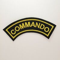 Commando Patch - Iron On Badge Embroidered Motif - Army Military Biker #212