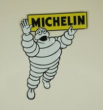 "Michelin Man Vintage Die Cut Metal Sheet Advertising Sign Wall Plaque 11"" x 14"""