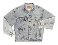 Vintage LEVIS Denim Jacket USA M Medium Mens Vtg ACID WASH Distressed Trucker