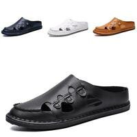 New Mens Flats Loafers Shoes Slippers Sandals Backless Soft Breathable Slip on