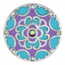 Ginger Snaps Blossom - Turquoise/Purple Sn08-93 Buy 4 Get 5Th $6.95 Snap Free