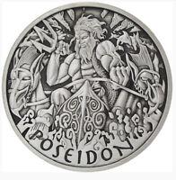 2021 1oz Tuvalu Gods Of Olympus-POSEIDON Silver Antique Finish Coin *PRE-SALE*