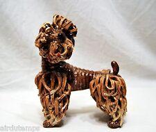 SCULPTURE céramique contemporaine XXè sign. CHIEN CANICHE ROYAL DOG POODLE h21cm