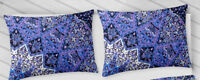 Set of 2 Indian 18X28 Pillow Cushion Cover Cotton Handmade Mandala Multicolor