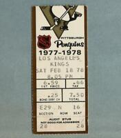 1977-78 Pittsburgh PENGUINS Los Angeles KINGS NHL Vintage Hockey Ticket Stub old
