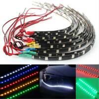 2Pcs 12 LEDs 5050 SMD LED Strip Light Flexible Waterproof 12V DIY Car Decor 30cm