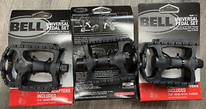 "Bell Kicks 350 Universal Bike Pedal Set Fits 1/2""- 9/16"" Black ***4 Sets***NEW"