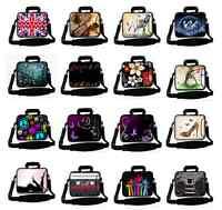 "Pattern 14"" 14.1"" 14.4"" Laptop Shoulder Bag Sleeve Case Pouch Handbag With Strap"