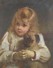 Barber Burton Charles Concern Girl With A Pug Canvas 16 x 20  #3529