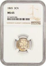 1865 3cN NGC MS65 - 3-Cent Nickel
