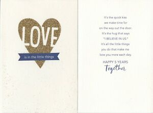 Hallmark 5th Anniversary Greeting Card From Spouse--All the Little Things You Do