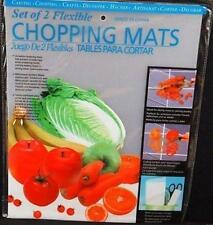 2 / 4 / 6 FLEXIBLE PLASTIC KITCHEN CHOPPING MAT MATS CUTTING BOARD ROLLS UP