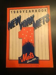Vintage 1989 New York Mets Official Yearbook Program Magazine Revised Edition