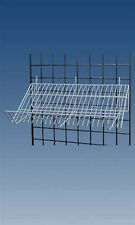"New Retails White Downslope Grid Shelf - 24""L x 12""W x 6""D x 4""H"