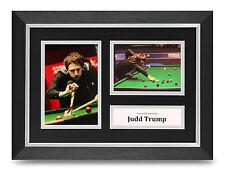 Judd Trump Signed A4 Photo Framed Display Snooker Memorabilia Autograph + COA