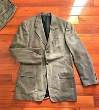 Banana Republic Suit Men's 42L Long - 34 x (30.5-32) Sand Textured Made in Italy