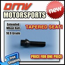 Black Tapered Longer Extended Wheel Bolts Lugs | BMW | 14x1.5 | 50MM Thread