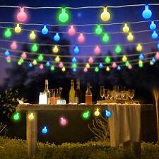50 LED Outdoor String Lighting Waterproof Garden Fairy Lights Lamp For Christmas