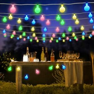 50 LED Outdoor String Lighting Waterproof Garden Fairy Lights Lamp For Christmas