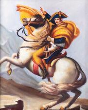 Ölgemälde mit Holzrahmen ~ Handgemaltes Ölbild ~ Napoleon zu Pferd ~ 38x33cm