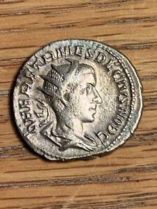 Herennius Etruscus, 250-251 AD, AR Antonininanus, Rome, RIC 147c