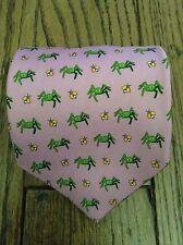 NWOT Brooks Brothers 100% Silk Pink Tie w/ Spiders & Flies