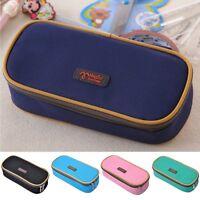 Nylon Stationery Box Makeup Cosmetic Case Pen Pencil Bag Zipper Pouch Purse Gift